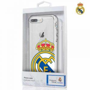 carcasa iphone 7 plus iphone 8 plus licencia futbol real madrid transparente 2