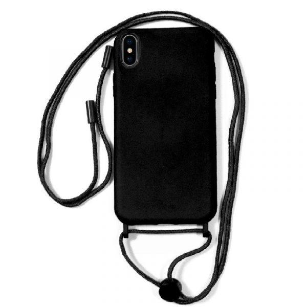 carcasa iphone xs max cordon liso negro 1