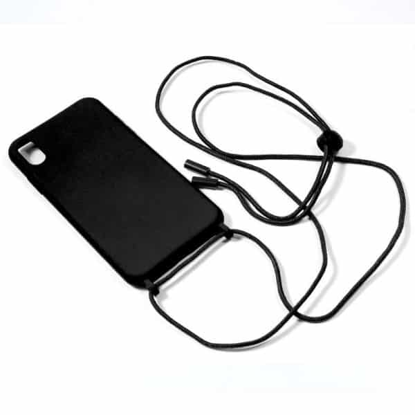 carcasa iphone xs max cordon liso negro 2