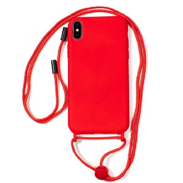 carcasa iphone xs max cordon liso rojo 1