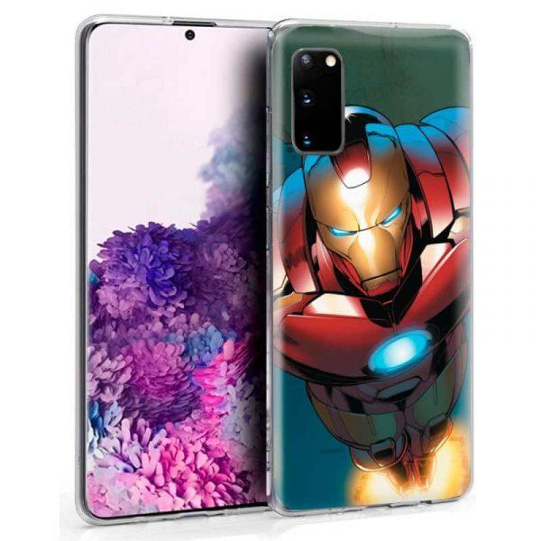 carcasa samsung galaxy s20 marvel iron man 1