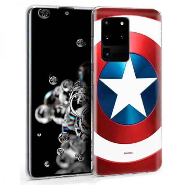 Carcasa Samsung Galaxy S20 Ultra 5G Marvel Capitán América 1