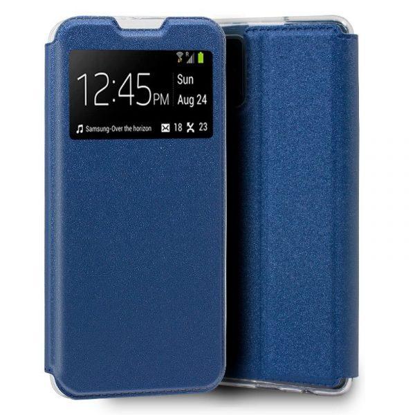 funda flip cover samsung galaxy a71 liso azul 1