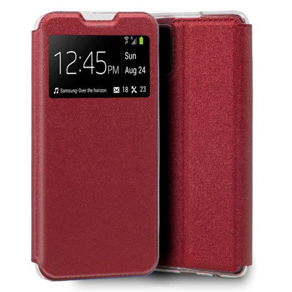 funda flip cover samsung galaxy s20 plus liso rojo 1