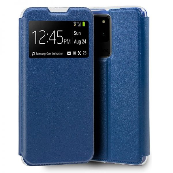funda flip cover samsung galaxy s20 ultra 5g liso azul 1