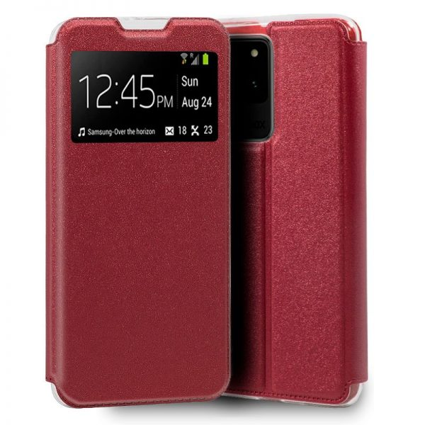 funda flip cover samsung galaxy s20 ultra 5g liso rojo 1