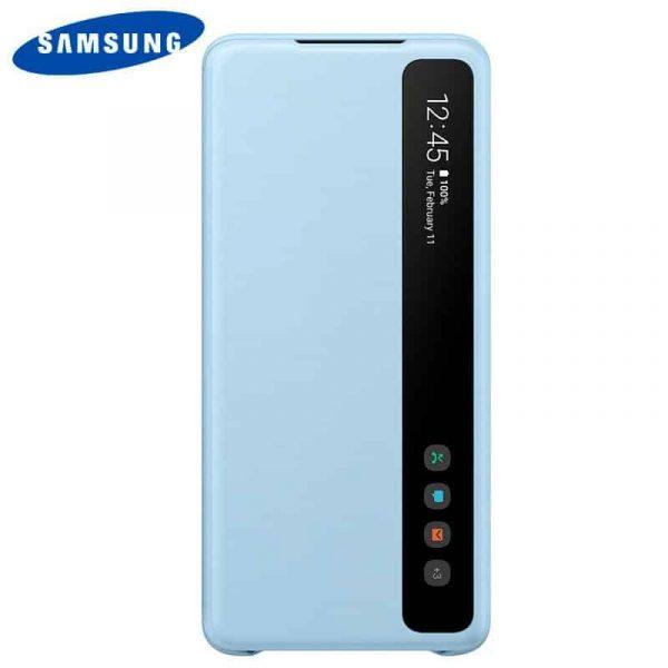 funda original samsung galaxy s20 plus wallet cover azul con blister 1