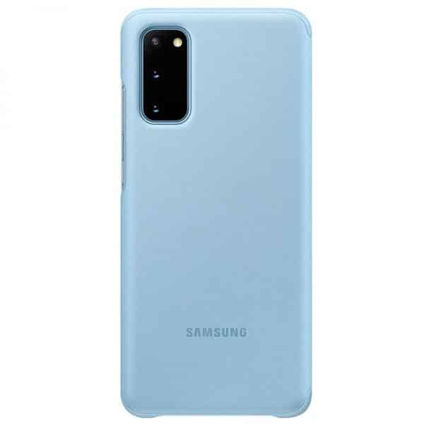funda original samsung galaxy s20 plus wallet cover azul con blister 3