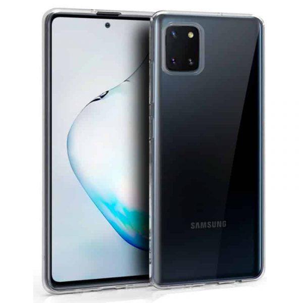 Funda Silicona Samsung Galaxy Note 10 Lite Transparente 1