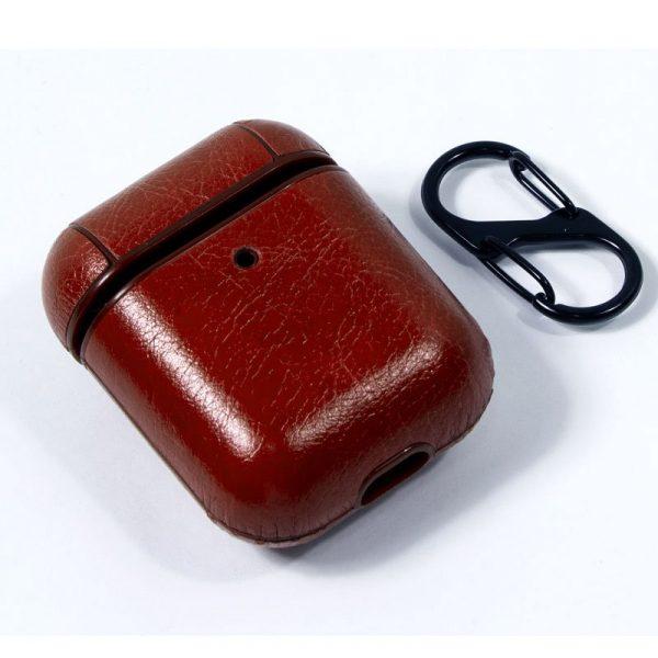 funda soft apple airpods leather marron 2