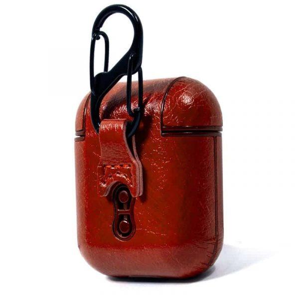 funda soft apple airpods leather marron 3