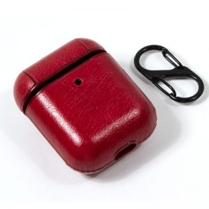 funda soft apple airpods leather rojo 2
