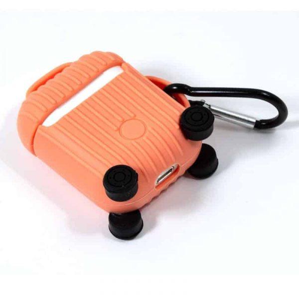 funda soft silicona apple airpods auriculares cool air v2 naranja 2