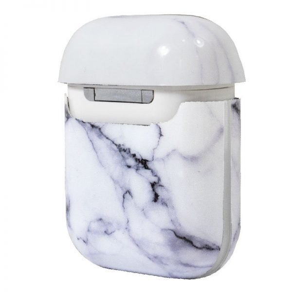 funda soft silicona apple airpods marmol blanco 2