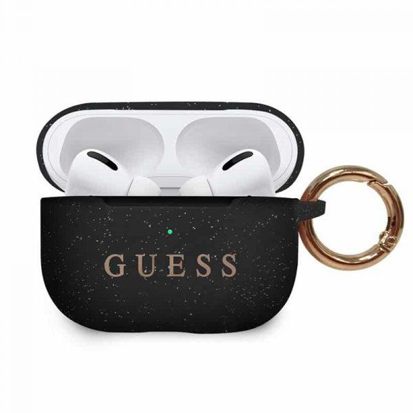 Funda Silicona Apple Airpods Pro Guess Negro 1