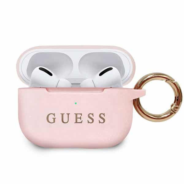 Funda Silicona Apple Airpods Pro Guess Rosa 1