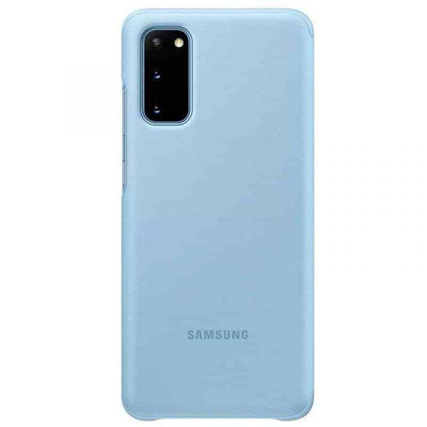 funda original samsung galaxy s20 wallet cover azul con blister 3
