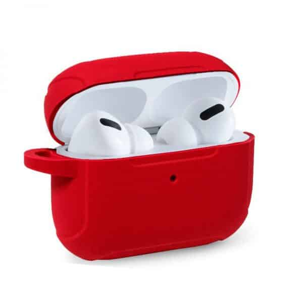 funda soft silicona apple airpods pro rojo 1