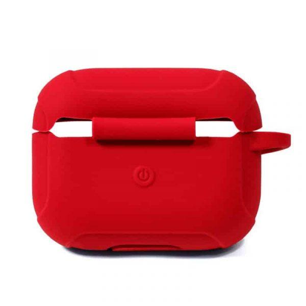 funda soft silicona apple airpods pro rojo 3