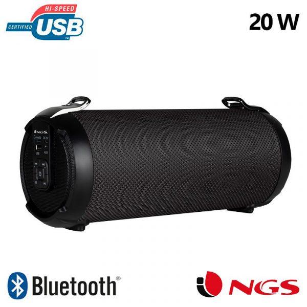 altavoz musica universal bluetooth ngs roller tempo negro 20w 1