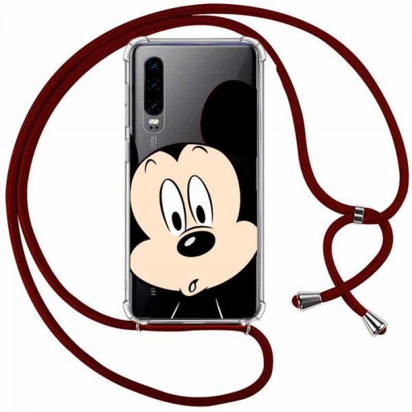 Carcasa Huawei P30 Disney Mickey Cordón 1
