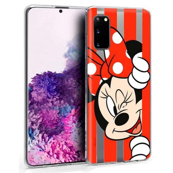 Carcasa Samsung Galaxy S20 Disney Minnie Rojo 1