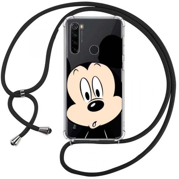 Carcasa Xiaomi Redmi Note 8 Disney Mickey Cordón 1