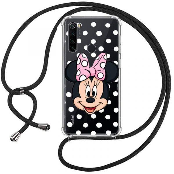 Carcasa Xiaomi Redmi Note 8 Disney Minnie Cordón 1