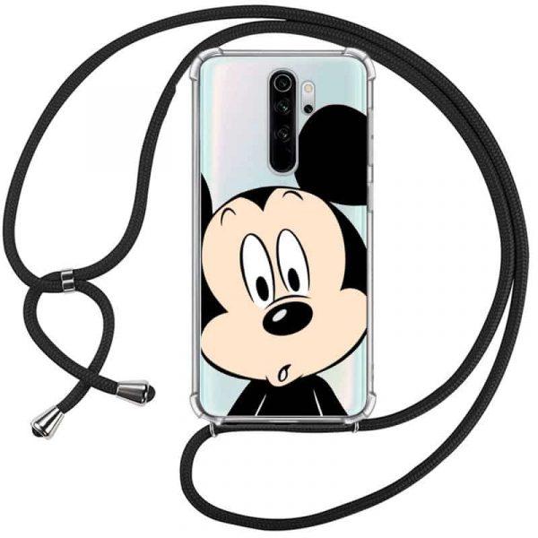 Carcasa Xiaomi Redmi Note 8 Pro Disney Mickey Cordón 1