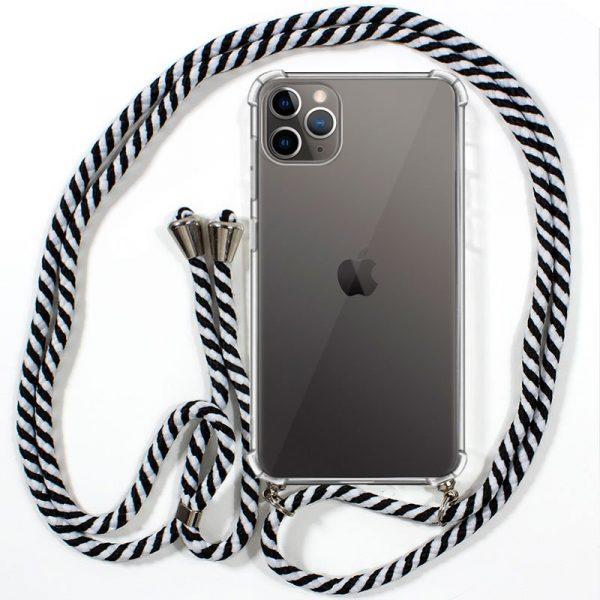 Carcasa iPhone 11 Pro Cordón Blanco-Negro 1
