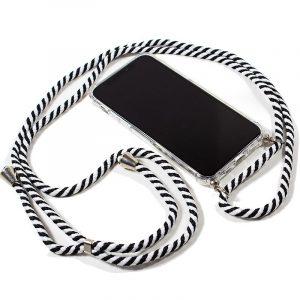 Carcasa iPhone 11 Pro Cordón Blanco-Negro 3