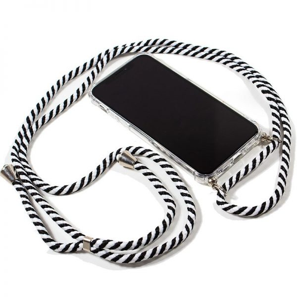 Carcasa iPhone 11 Pro Cordón Blanco-Negro 2