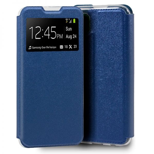 funda flip cover huawei p40 lite liso azul 1
