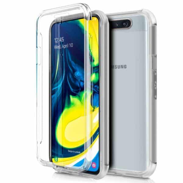 Funda Silicona 3D Samsung A805 Galaxy A80 (Transparente Frontal + Trasera) 1
