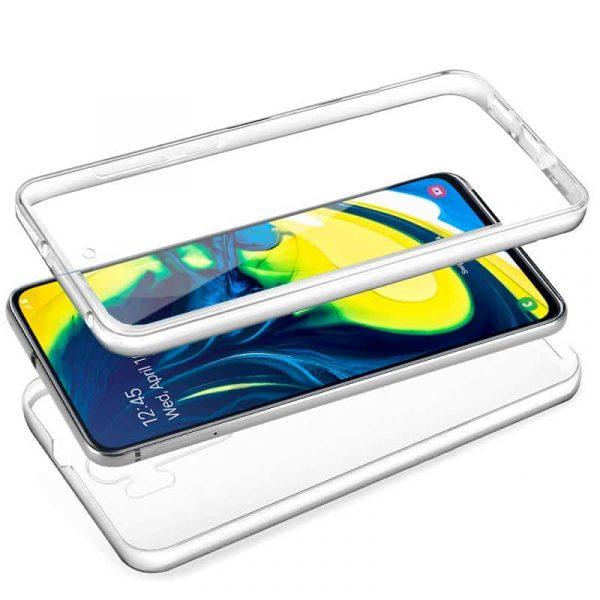 Funda Silicona 3D Samsung A805 Galaxy A80 (Transparente Frontal + Trasera) 2