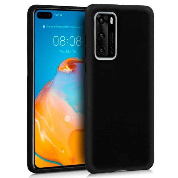 Funda Silicona Huawei P40 Pro Negro 1