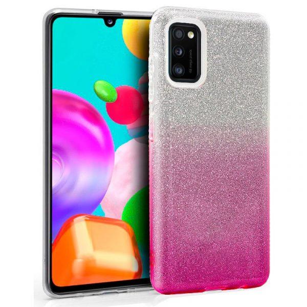 Carcasa Samsung Galaxy A41 Glitter Rosa 1