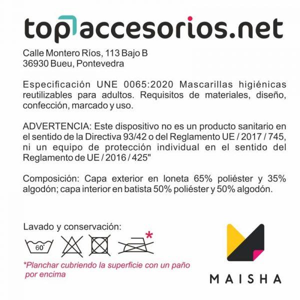 Mascarilla Reutilizable Amarilla Diseño Leopardo Negro Glitter Dorado 4