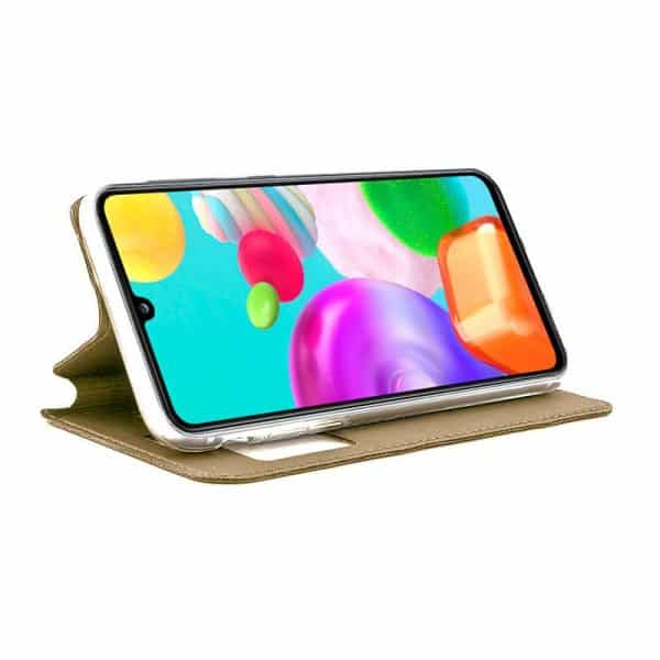 Funda Con Tapa Samsung Galaxy A41 Dorado 2