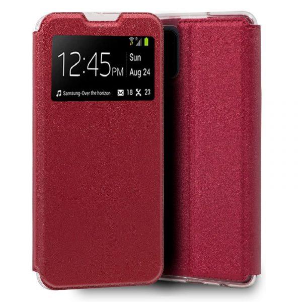 Funda Con Tapa Xiaomi Mi 10 Lite Rojo 1