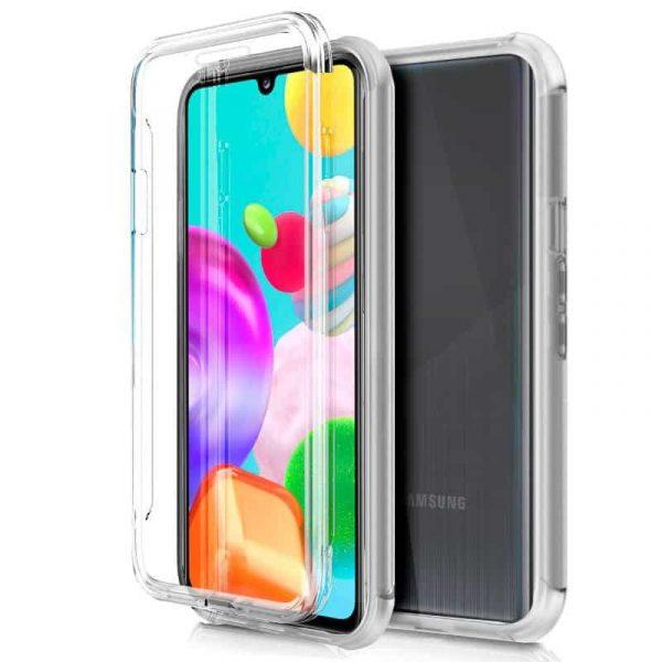 Funda Silicona 3D Samsung Galaxy A41 (Transparente Frontal + Trasera) 1