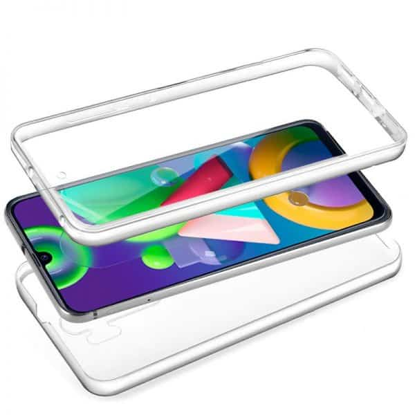 Funda Silicona 3D Samsung Galaxy M21 (Transparente Frontal + Trasera) 2