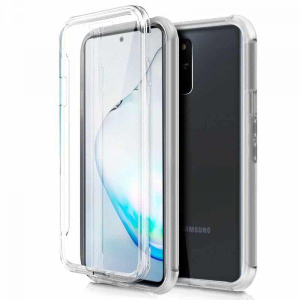 Funda Silicona 3D Samsung Galaxy Note 10 Lite (Transparente Frontal + Trasera) 1