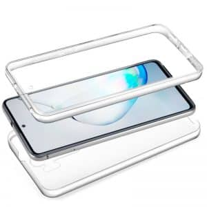 Funda Silicona 3D Samsung Galaxy Note 10 Lite (Transparente Frontal + Trasera) 3