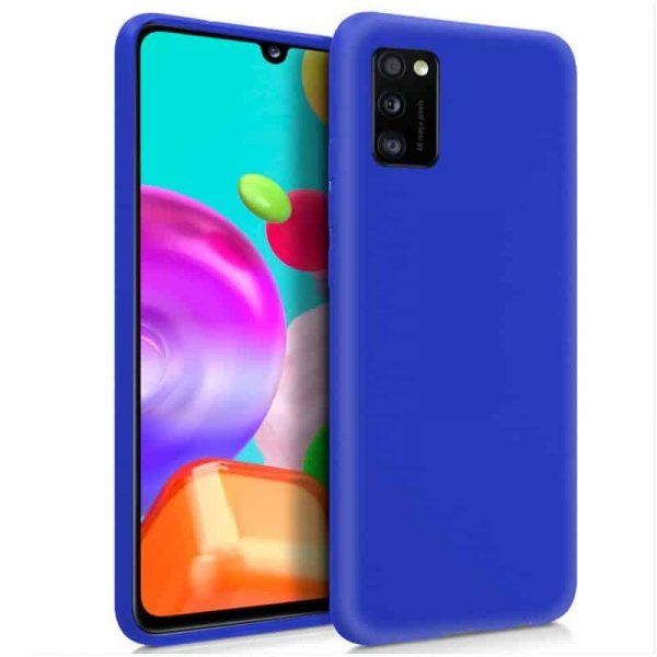 Funda Silicona Samsung Galaxy A41 Azul 1