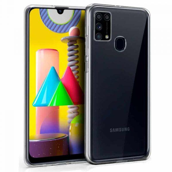 Funda Silicona Samsung Galaxy M31 Transparente 1