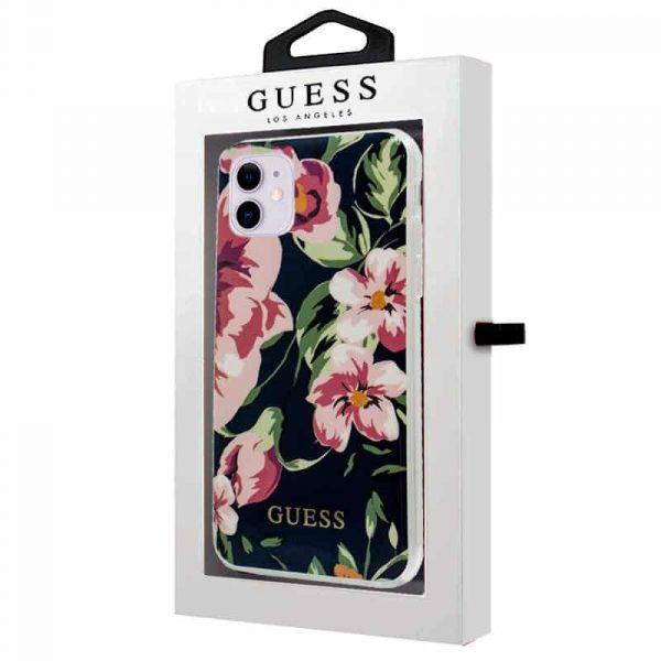 carcasa iphone 11 licencia guess flores marino 2