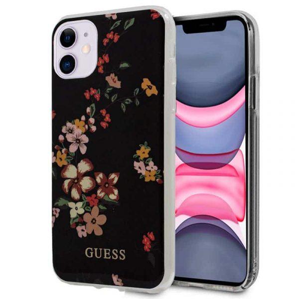 carcasa iphone 11 licencia guess flores negro 1