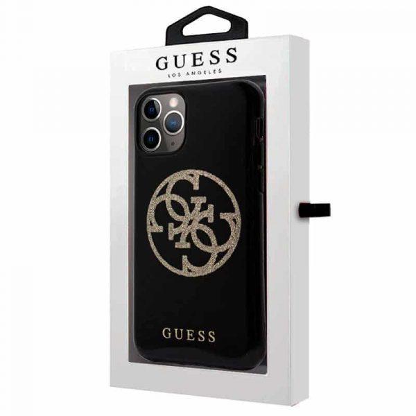 Carcasa iPhone 11 Pro Guess Glitter Negro 2