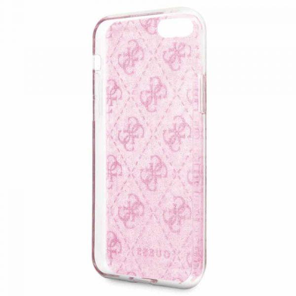 carcasa iphone 6 7 8 se 2020 licencia guess logos rosa 3